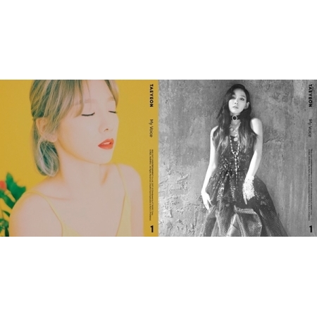 GIRLS GENERATION TAEYEON VOL 1 ALBUM - MY VOICE (FINE VER)  + (I GOT LOVE VER)  Release Date 2017.03.02 exo 4th album repackage the war the power of music chinese ver korean ver 2 version set release date 2017 09 06