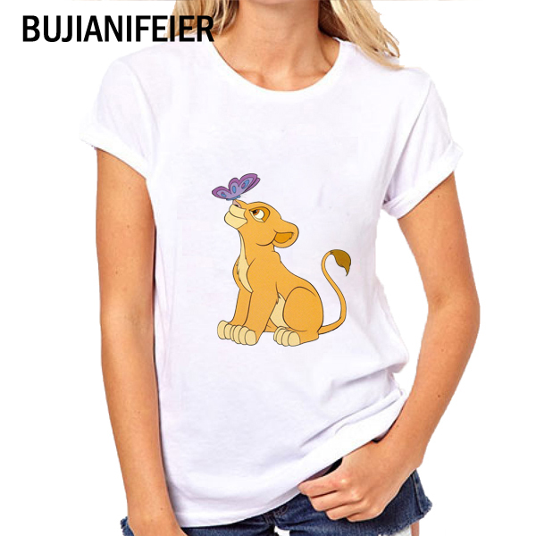 2019 Lion King Print T-Shirt Simba And Mufa Children's Clothing Summer Funny Cartoon Children's T-Shirt Boy And Girl, JBN212