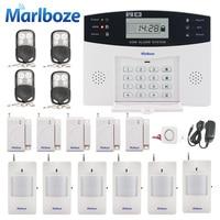 Russian/English/Spanish Voice Prompt GSM SIM Home Burglar Security Alarm System Remote Control Kit Infrared Detector Door Sensor