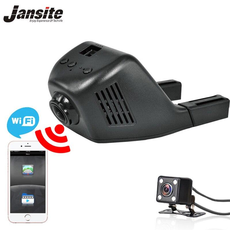 Jansite W03S wifi Voiture DVR deux caméras Boucle vidéo Full HD 1080 p caméras de voiture Registrator Dashcam Vidéo Numérique Enregistreur