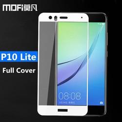 Huawei P10 lite szkło hartowane MOFi oryginalny huawei p10 folia ochronna na ekran lite pełna pokrywa czarny huawei p10lite szkło film 5.2|Etui do ekranu telefonu|Telefony komórkowe i telekomunikacja -