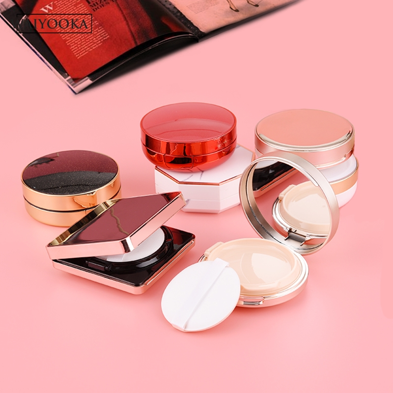 Image 2 - Make Up Case Air Cushion Sponge Powder Puff Empty Box Liquid Foundation BB Cream Makeup Box for cosmetics Dressing Table Storage-in Makeup Organizers from Home & Garden