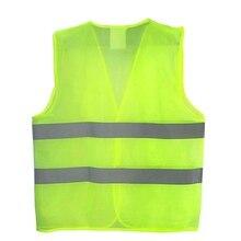Высокая видимость флуоресцентный светоотражающий жилет наружная безопасная Спортивная Одежда Бег гонка жилет