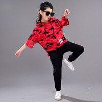 Kids Adults Spring Summer Children S Clothing Set Costumes Black Hip Hop Dance Pants Camouflage T