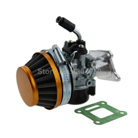 Racing Carb Carburetor Air Filter Assembly For 50cc 60cc 66cc 80cc 2 Stroke Gas Motorized Bike Bicycle