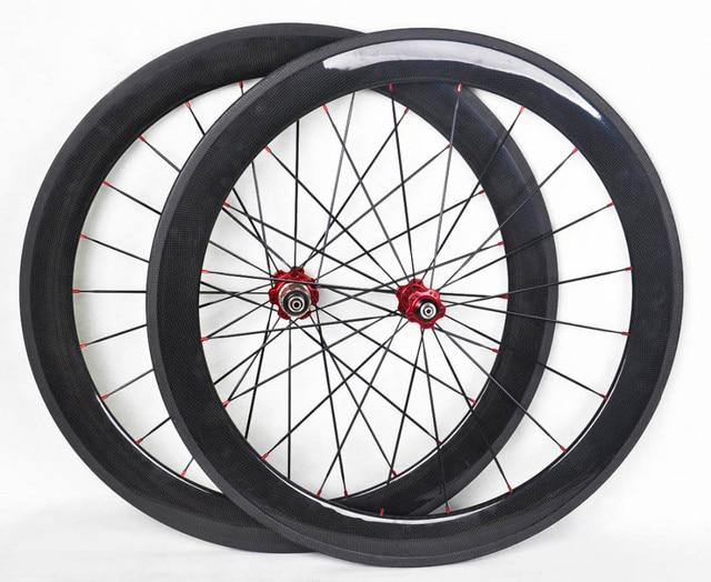 2017 Hot Big Discount 60mm Tubular Carbon Wheelset 3k Glossy Aero
