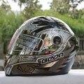 Cascos de Carreras de Moto Casco Integral Beon automóvil casco de moto carrera de invierno a prueba de viento térmico anti-ultravioleta espejo desaceleración