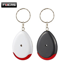 New Smart LED Light Whistle Sound Keychain Flash Anti-Lost Anti-Wolf Key Finder Alarm Security Key Finder Tracker Black