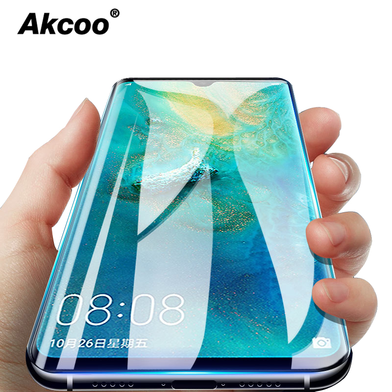 Akcoo P30 Pro Screen Protector For Huawei Mate 20 Pro UV Tempered Glass P20 Pro Lite Full Glue Cover 6D Sceen Protector Cases