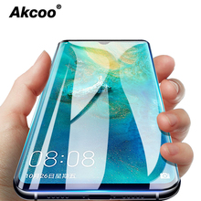 Akcoo P30 Pro screen protector for Huawei mate 20 pro UV tempered glass p20 lite full glue cover 6D sceen cases