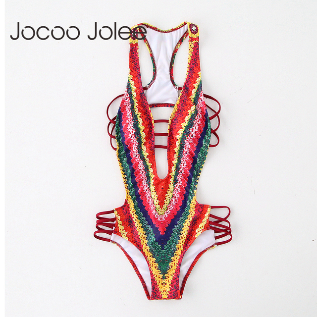 Jocoo Jolee Sexy Deep Neck Women Knitting Jumpsuit Indian Style Women Club&Beach Summer Wearings Backless Playsuits 2018 New