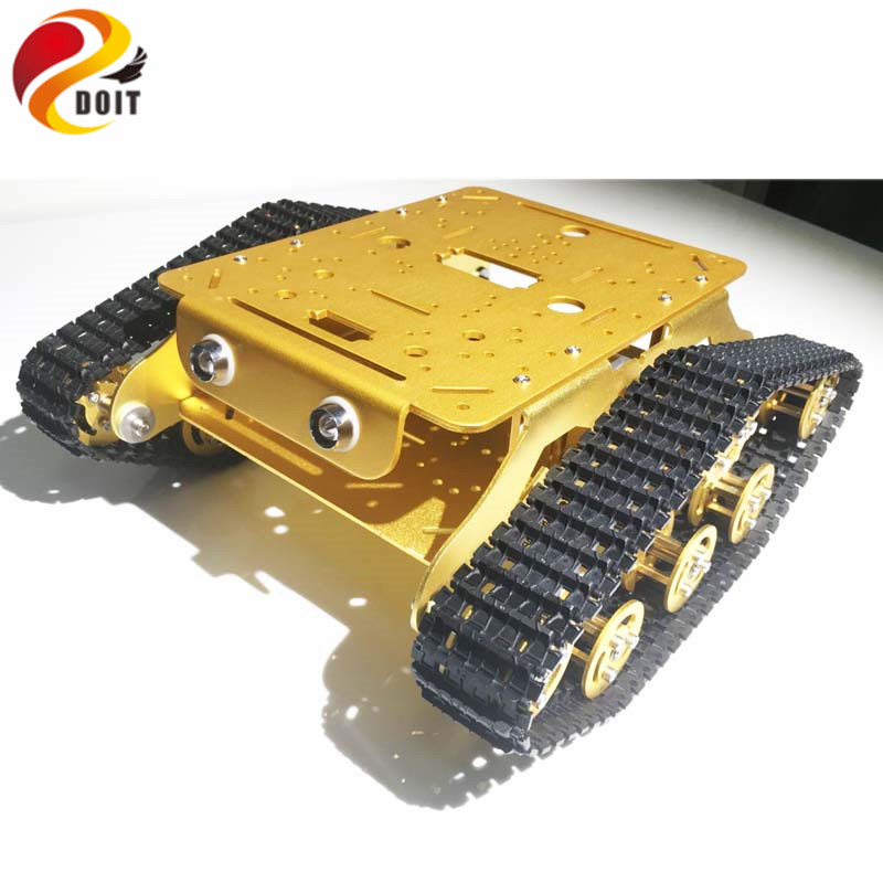 DOIT Caeser TSD300 4WD Damping Tracked Metal Tank Car Chassis Smart Robot Toy Robotic Competition official doit caeser ts600 4wd damping tracked metal tank car chassis smart robot toy robotic competition
