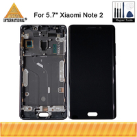 Original For 5.7 Xiaomi Note 2 Mi Note 2 Axisinternational LCD Screen Display+Touch Panel Digitizer With Frame For MiNote 2