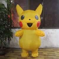 Pikachu Pikachu Cosplay Roupas Traje Trajes de Halloween Para Adultos Inflável Inflável Popular Cosplay Novo Estilo