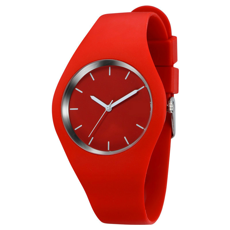 Fashion Band Women Casual quartz watch Men watches Montre Femme Reloj Mujer Silicone Waterproof Clock Sport Wristwatches Relojes(China)