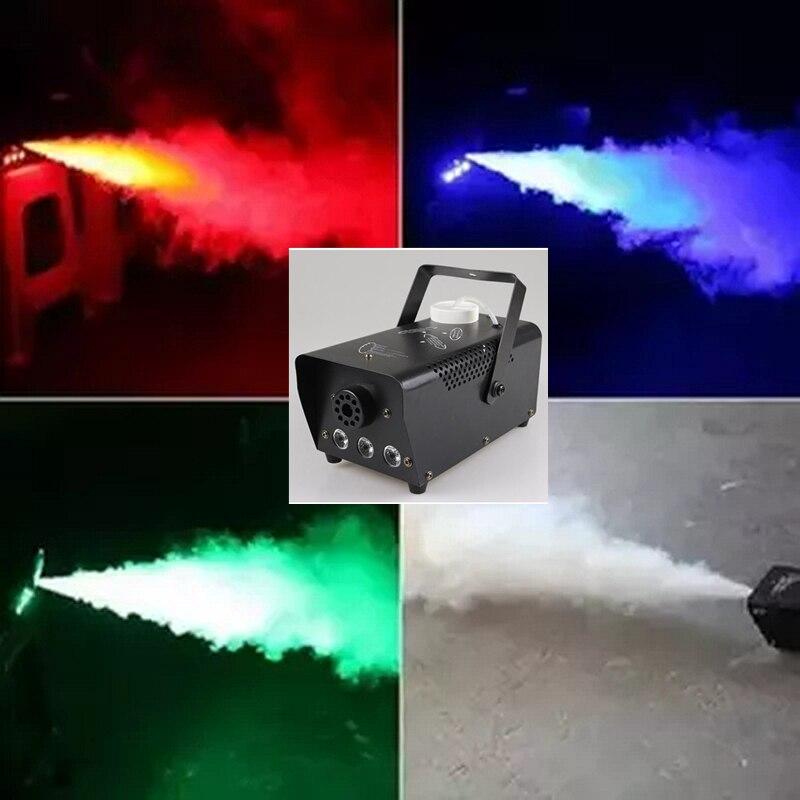 AUCD Mini 400W RGB LED Color Remote Control Smoke Fog Machine Stage Lights Smoke Effect Smoke-RGB400 цена