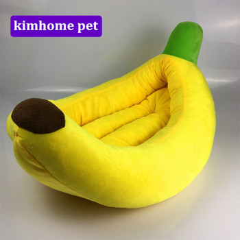 New Kennel Cat Nest Teddy dog Fruit Banana  Cotton Bed Warm Soft Pet Products Foldable Dog Sleeping House CCG02
