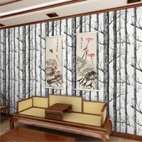 10M 3D Wood Wallpaper Forest Printing Papel De Parede Birch Tree Non woven 3D Woods Wallpaper Roll Modern Designer WP16010