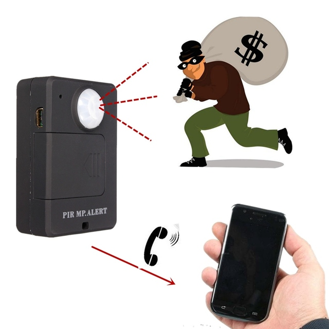 Merveilleux Portable Mini GSM Alarm A9 PIR MP.ALERT PIR Sensor Motion Detector  Anti Thief