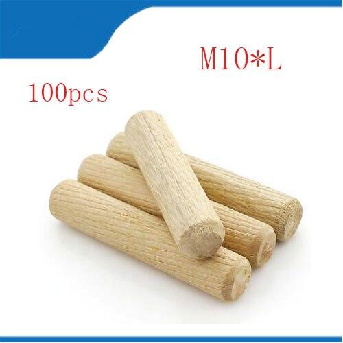 wood dowel 100pcs Per Lot Twill 10mm Diameter Twill Hardwood Round Furniture Fitting Wood Dowel Pin