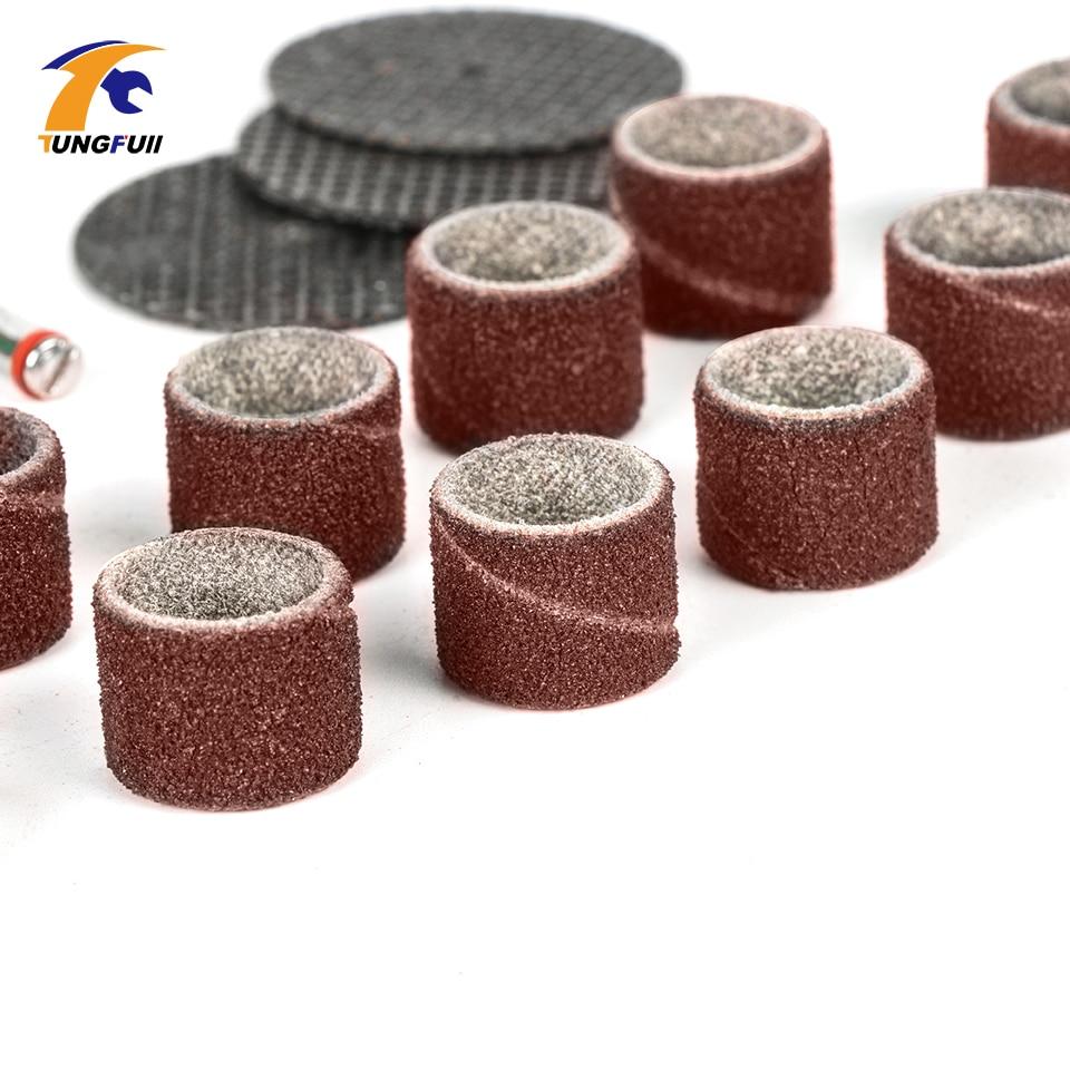 Tungfull Dremel Tools 161pcs Puidutöötlemise poleerimine Mini - Elektritööriistade tarvikud - Foto 6