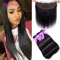 Malaysian Straight Hair With Lace Frontal Closure Malaysian Virgin Hair With Closure Ear to Ear Straight Virgin Hair Frontals