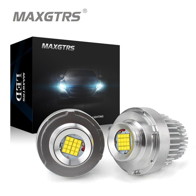 2x High Power 80W LED Marker Angel Eye Halo Ring Bulb For BMW E60 E61 LCI 2007-2010 Year LED Trim White Canbus Error Free