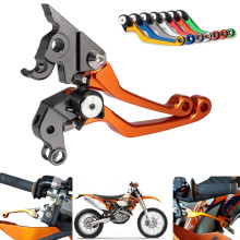 2015 CNC Pivot Dirttbike Brake Clutch Levers for KTM 250 300 EXC 350EXC-F 400EXC-R 250 300 400 450 XC-W Orange Freeshipping C20 цена в Москве и Питере