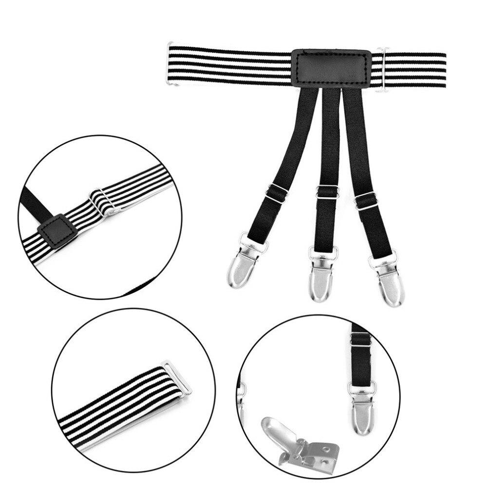 Men's Accessories 2019 Latest Design Mens Shirt Crease-resist Anti-skid Clip Legs Thigh Elastic Adjustable Suspender Holder Stays Garters For Gentlemen A30 Men's Suspenders