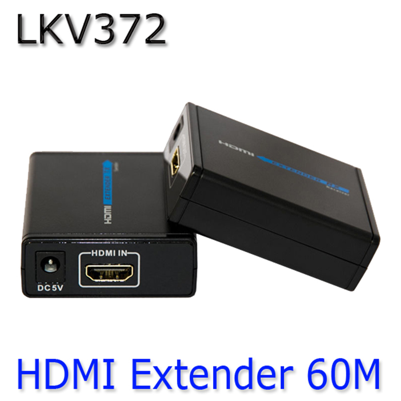 HDMI 1080P Over Ethernet CAT5e CAT6 LKV372 LAN Extender Transmitter +Receiver RJ45 CAT5E CAT6 For HD DVD PS3 Projector US /EU/AU