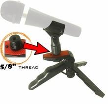 Heavy Duty Rígida Table Top Tripé Suporte para Microfones Dinâmicos com Almofadas e Suave Aperto de Pistola