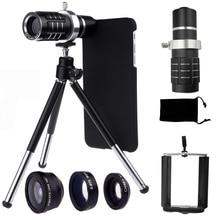 9 Piece Camera Photo Lens Kits:Four Awesome Lenses+Cover Case+Aluminum Tripod For Apple iPhone 7 6 6S 7 PLUS/5 5S SE