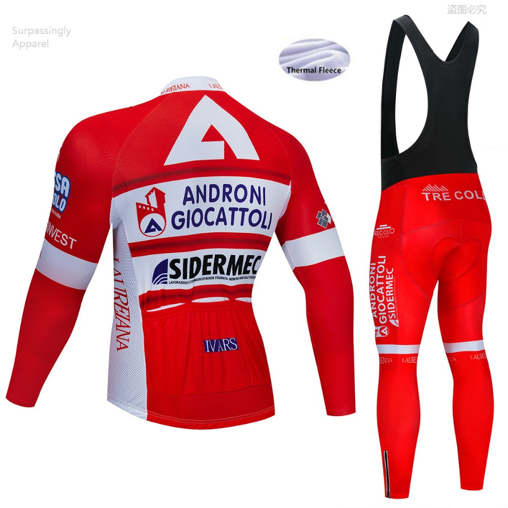 Pro UCI Team Red Andro Cycling Jersey Winter Bicycle Clothing Bike Clothes Long Sleeve Jersey Mountain Bike Jersey Sets 9D Gel-in Cycling Sets from Sports & Entertainment    2