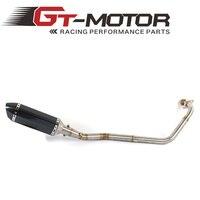 GT Motore-Moto silenziatore di Scarico tubo centrale e uno exhausrt per YAMAHA R15 2008-2016 Slip-On