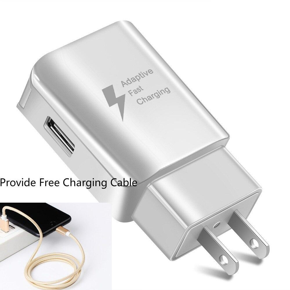 Image 2 - USB зарядное устройство для телефона EU US type быстрое зарядное устройство QC2.0 с бесплатными зарядными кабелями, совместимыми с iphone samsung huawei xiaommi настенное зарядное устройство-in ЗУ для мобильных телефонов from Мобильные телефоны и телекоммуникации