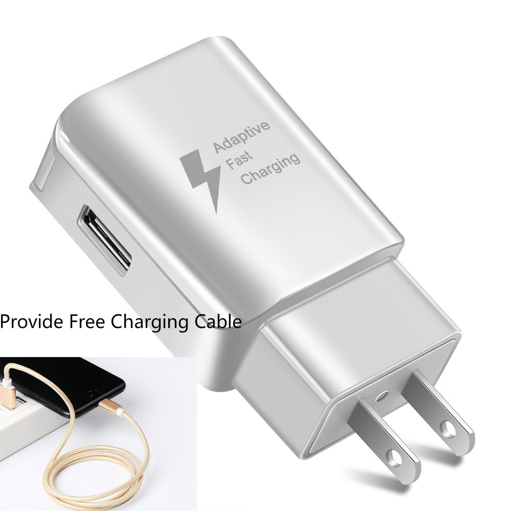 Image 2 - USB Phone Charger EU US type Fast Charger QC2.0 with Free charg Cables compatible for iphone samsung huawei xiaommi wall Charger-in Mobile Phone Chargers from Cellphones & Telecommunications