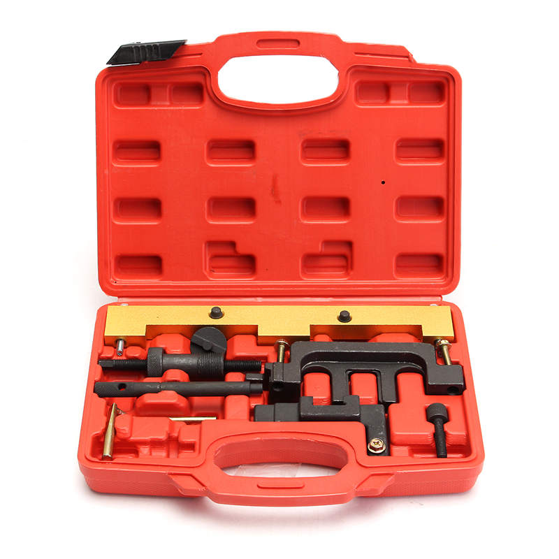 Professional Carbon Steel for BMW Engine Timing Tool Kit Fits DOHC Engines For BMW N42 (B18A + B20AJ) &N46 (B18B + B20 + B20B) engine timing tool kit for bmw n14 mini 1 4 1 6 n12 n14