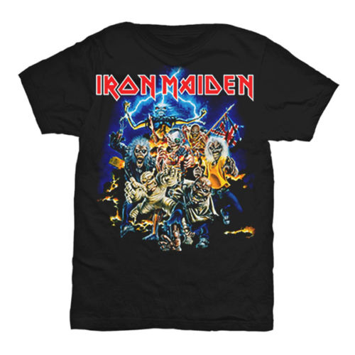 Iron maiden t shirt men the book of soul the trooper for Books printed on t shirts