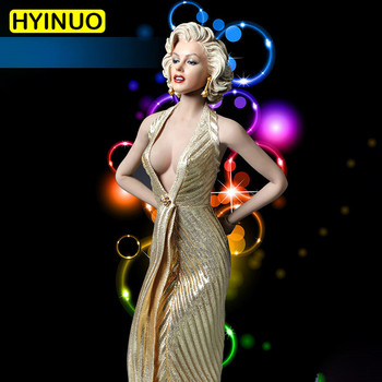 1/6 Scale Female Marilyn Monroe Sexy Evening Dress Suit Action Figure Set Sculpt Model 12' Full Set Action Figure Body Dolls Toy image