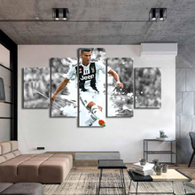 Football Stars Posters C Ronaldo 5 Pieces Wall Canvas Paintings Soccer Sports Art Kids Room Home Decor