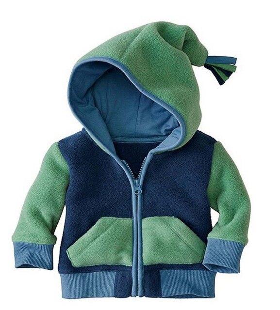 2017 дети мальчик девочка одежда, bebes детская Куртка пальто С КАПЮШОНОМ clothing 2 цветов. новорожденный одежда