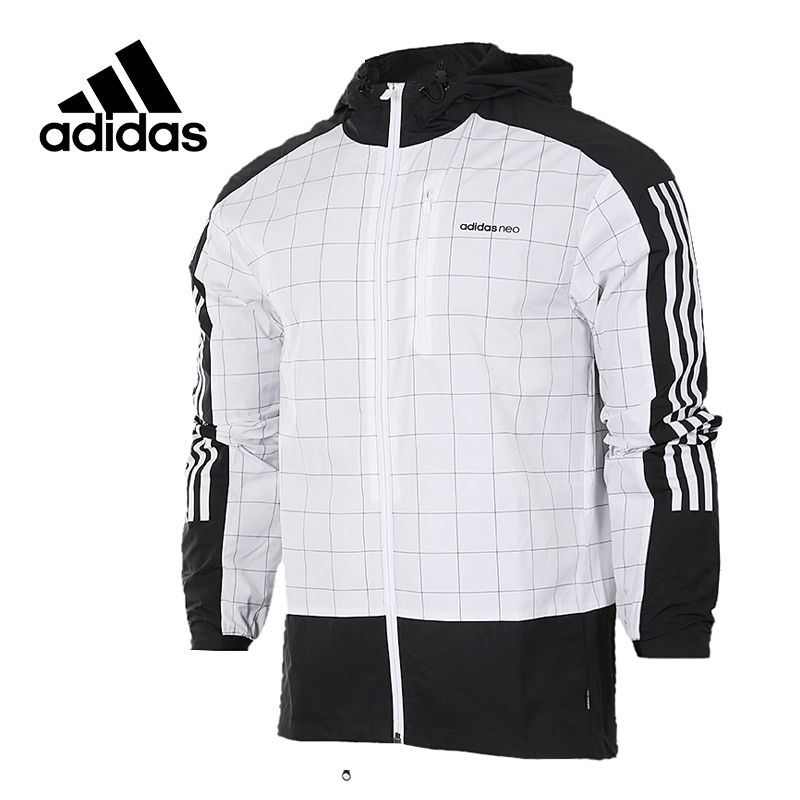 Original New Arrival Official Adidas NEO Men's Windproof Jacket Hooded Sportswear original new arrival official adidas neo women s knitted pants breathable elatstic waist sportswear