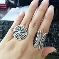 New Bohemia Vintage Unique Design Tibetan Antique Silver Plated Ring Set 2pcs/Set Boho Jewelry Rings