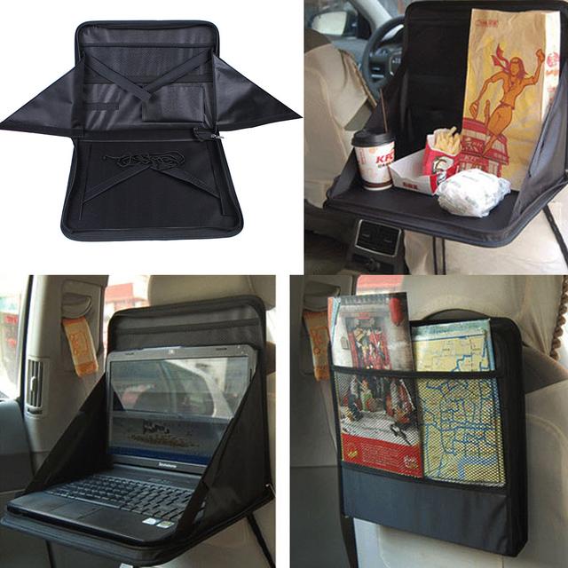 Banco de Trás do carro Comida Mesa Mesa Do Laptop PC Mount Holder Bandeja Suporte de Saco Dobrável Multifuncional Prateleiras