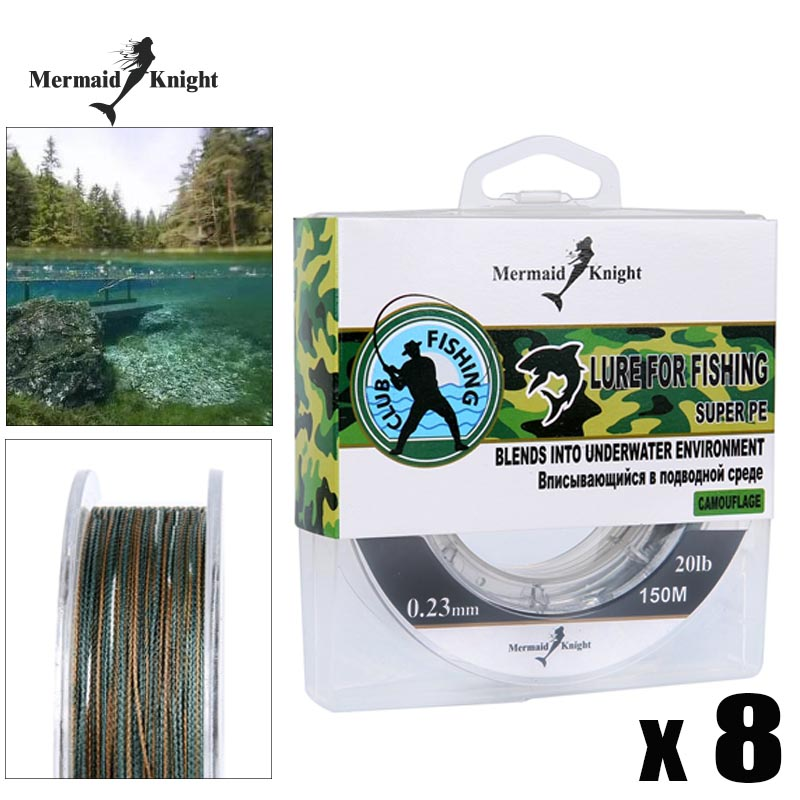 165YDS New Camouflage PE Braided Fishing Line 10~100LB Camouflage Complex Waters Place Multifilament Fishing Line|fishing line|braided fishing line|braid fishing - title=