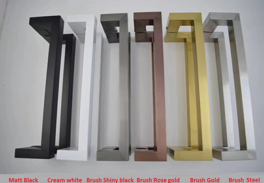 CC=400MM Modern Square Glass Door Pull Handle Commercial Entry ...