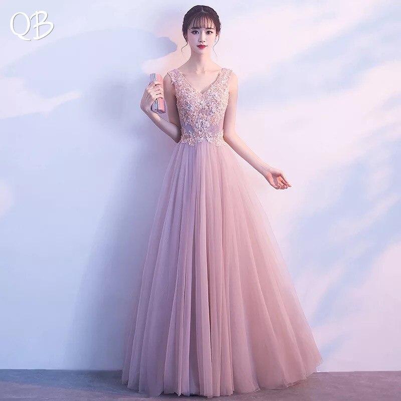 c815dd33e8a Элегантный розовый Онлайн v-образным вырезом из фатина