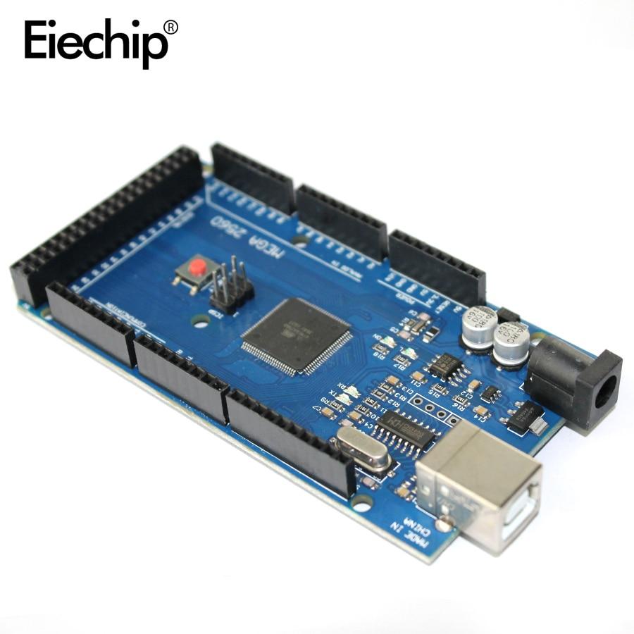 MEGA2560 Mega 2560 R3 REV3 ATmega2560-16AU CH340G tarjeta ON Cable USB compatible para arduino sin línea USB