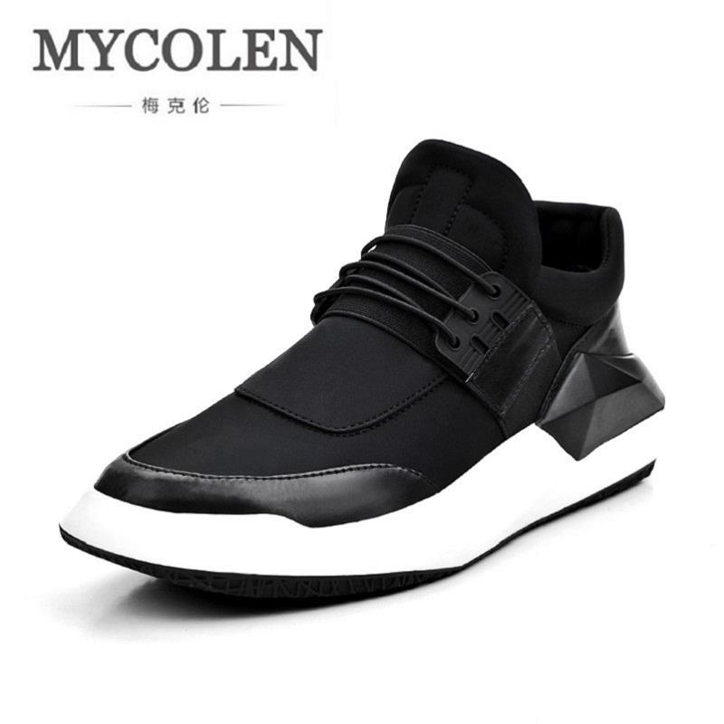 MYCOLEN New Men Shoes Casual Loafers Lace-Up Male Shoes Walking Lightweight Comfortable Breathable Men Tenis Feminino Zapatos klywoo new white fasion shoes men casual shoes spring men driving shoes leather breathable comfortable lace up zapatos hombre