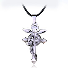 Mqchun quente anime fullmetal alquimista metal colar cruz cobra pingente cosplay acessórios jóias pode drop-shipping